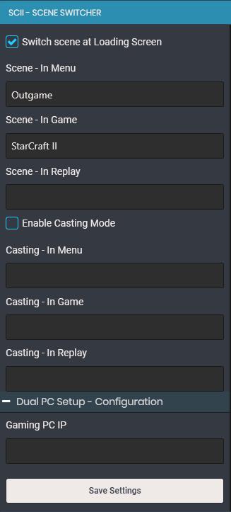 StarCraft II Scene Switcher – Brains World